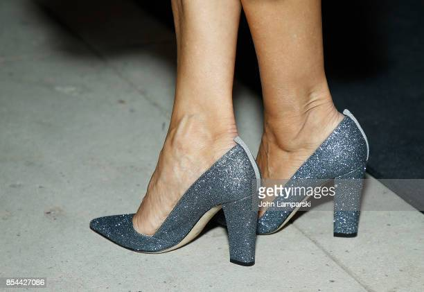 Sarah Jessica Parker shoe detail attends Airbnb presents True York on September 26 2017 in New York City