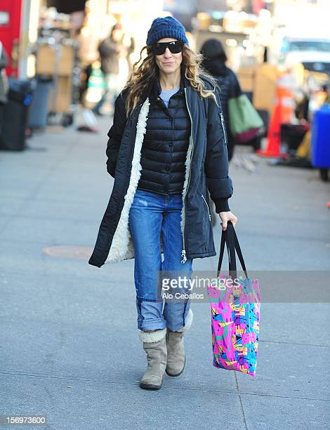 Sarah Jessica Parker Sighting at Streets of Manhattan on November 26 2012 in New York City