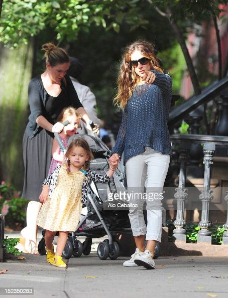 Sarah Jessica Parker Tabitha Broderick and Marion Broderick are seen in the West Village at Streets of Manhattan on September 19 2012 in New York City