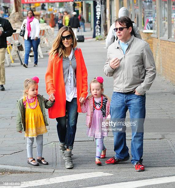 Sarah Jessica Parker Tabitha Hodge Broderick Marion Loretta Elwell Broderick and Matthew Broderick are seen in the West Village on May 6 2013 in New...
