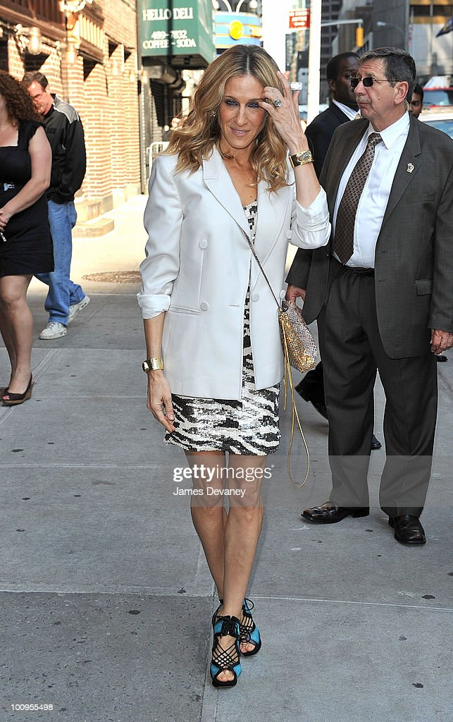 Sarah Jessica Parker visits 'Late Show With David Letterman' at the Ed Sullivan Theater on May 25, 2010 in New York City.