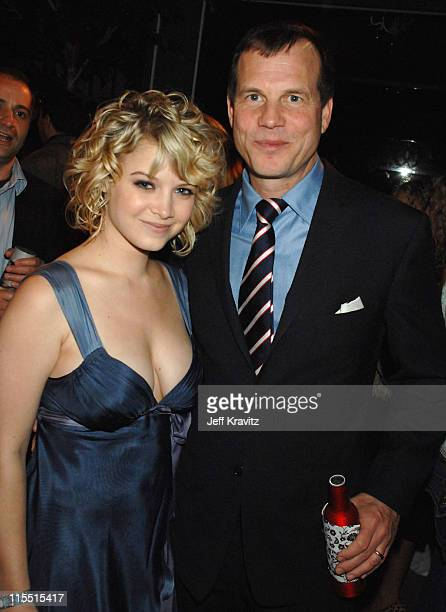 Sarah Jones and Bill Paxton during 'Big Love' Season Two Premiere After Party at Boulevard 3 in Hollywood California United States