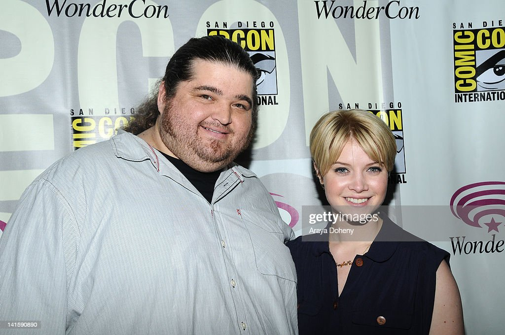Sarah Jones and Jorge Garcia attend the Alcatraz conference at WonderCon 2012 Day 3 at Anaheim Convention Center on March 18 2012 in Anaheim...