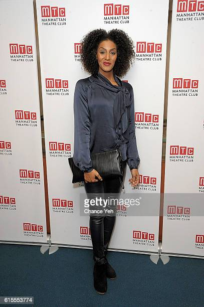 Sarah Jones attends 'Sell/Buy/Date' opening night at New York City Center on October 18 2016 in New York City