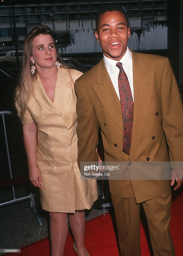 Sarah Kapfer and <a gi-track='captionPersonalityLinkClicked' href=/galleries/search?phrase=Cuba+Gooding+Jr.&family=editorial&specificpeople=208232 ng-click='$event.stopPropagation()'>Cuba Gooding Jr.</a> during 'Boyz In The Hood' Premiere at Cineplex Odeon Theatre in Century City, California, United States.