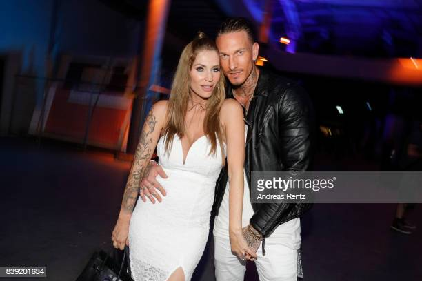 Sarah Kern and partner Nick Heil attend the finals of 'Promi Big Brother 2017' at MMC Studio on August 25 2017 in Cologne Germany
