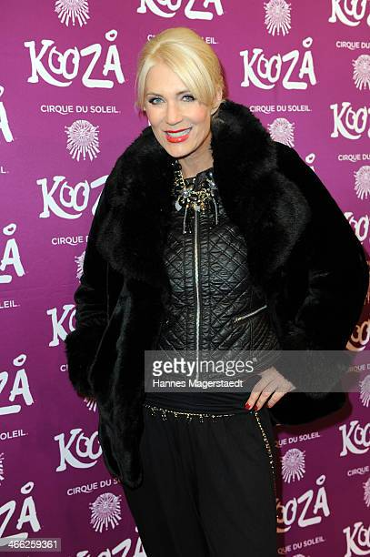 Sarah Kern attends 'Cirque Du Soleil' Kooza 2014 Munich Premiere at Theresienwiese on January 31 2014 in Munich Germany