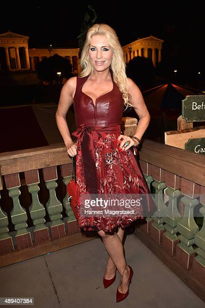 Sarah Kern attends the Almauftrieb during the Oktoberfest 2015 at Kaefer Tent on September 20 2015 in Munich Germany