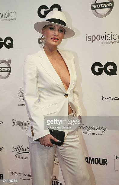 Sarah Kern attends the GQ Ispovision Style night February 5 2007 in Munich Germany