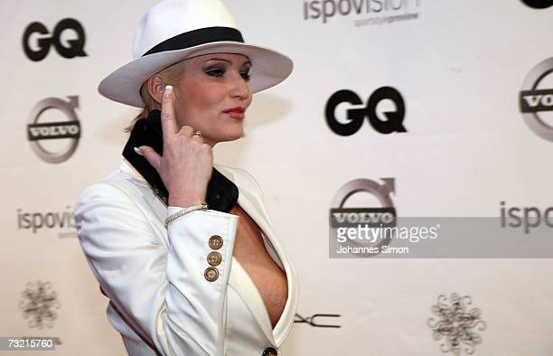 Sarah Kern attends the GQ Ispovision Style night February 5 in Munich Germany
