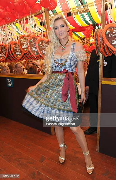 Sarah Kern attends the 'Sixt Damenwiesn' as part of the Oktoberfest beer festival at Hippodrom beer tent on September 24 2012 in Munich Germany