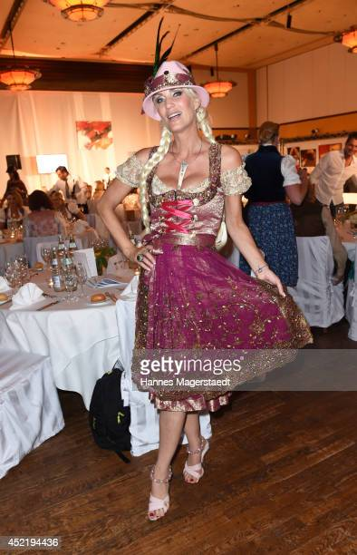 Sarah Kern attends the Sixt ladies dirndl dinner on July 15 2014 in Munich Germany