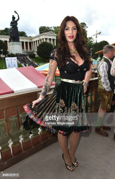 Sarah Kern during the ProSieben Sat1 Wiesn as part of the Oktoberfest 2017 at Kaefer Tent on September 17 2017 in Munich Germany
