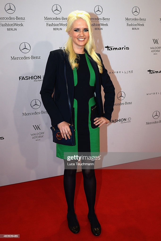 Sarah Knappig attends the Marc Stone show during Mercedes-Benz Fashion Week Autumn/Winter 2014/15 at Brandenburg Gate on January 14, 2014 in Berlin, Germany.
