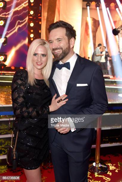 Sarah Knappik and her boyfriend Ingo Nommsen during the LEA PRG Live Entertainment Award 2017 After Show Party at Festhalle Frankfurt on April 3 2017...