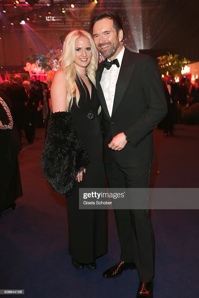 Sarah Knappik and Ingo Nommsen during the after show party of the Goldene Kamera 2016 on February 6, 2016 in Hamburg, Germany.