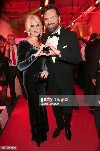 Sarah Knappik and Ingo Nommsen during the Ein Herz Fuer Kinder reception at Adlershof Studio on December 3 2016 in Berlin Germany