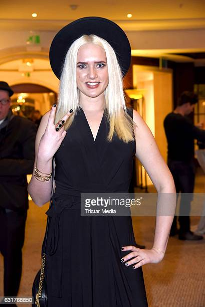 Sarah Knappik attends the 30th Anniversary of Designer Harald Gloeoecklers Label Pompoeoes on January 15 2017 in Berlin Germany