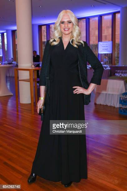 Sarah Knappik attends the Opening Reception Of Deutsche Produzentenallianz at Representation of the state of BadenWuerttemberg on February 8 2017 in...