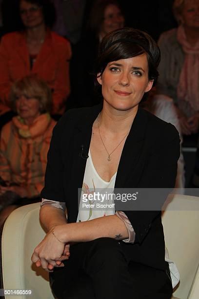Sarah Kuttner ZDFTalkshow 'Markus Lanz' HamburgBahrenfeld Deutschland Europa Studio TalkShow Moderatorin Promi BB CD PNr 030/2014