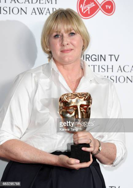 Sarah Lancashire winner of the Leading Actress award for 'Happy Valley' in the Winner's room at the Virgin TV BAFTA Television Awards at The Royal...