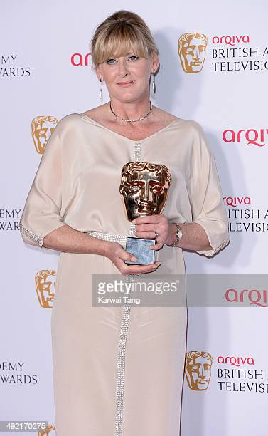 Sarah Lancashire with the Supporting Actress Award for Last Tango in Halifax at the Arqiva British Academy Television Awards held at the Theatre...