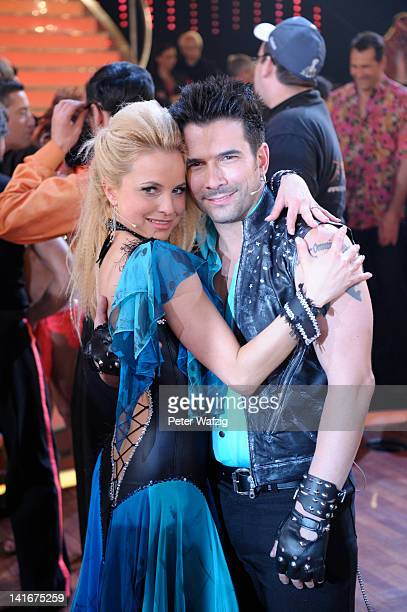 Sarah Latton and Marc Terenzi pose during the 'Let's Dance' TV Show photocall on March 21 2012 in Cologne Germany
