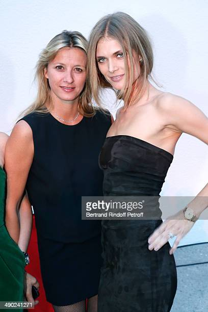Sarah Lavoine and model Malgosia Bela attend 'The strange city' Exhibition by Ilya and Emilia Kabakov at Monumenta 2014 Dinner to benefit 'Naked...