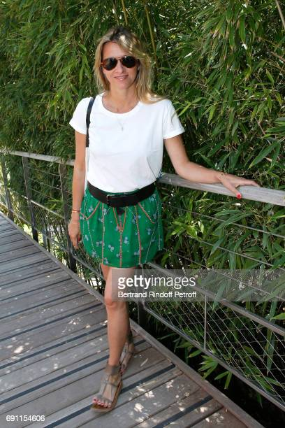 Sarah Lavoine attends the 2017 French Tennis Open Day Five at Roland Garros on June 1 2017 in Paris France