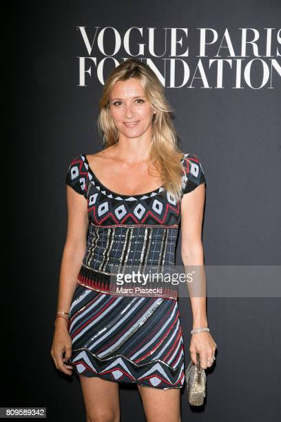 Sarah Lavoine attends Vogue Foundation Dinner during Paris Fashion Week as part of Haute Couture Fall/Winter 20172018 at Musee Galliera on July 4...