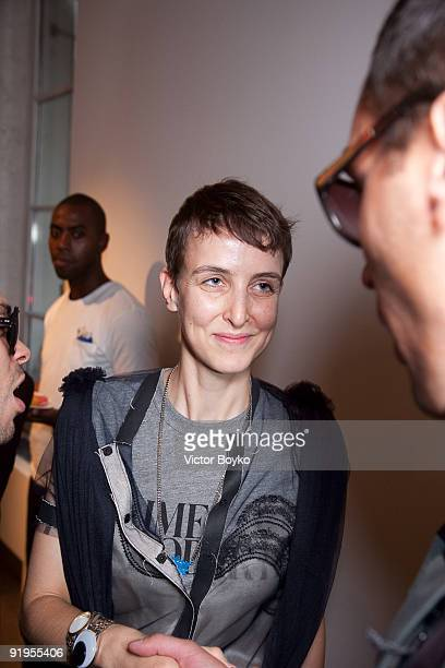 Sarah Lerfel of Colette attends a celebration of an opening for the Rodarte shop and gallery at Colette on October 5 2009 in Paris France