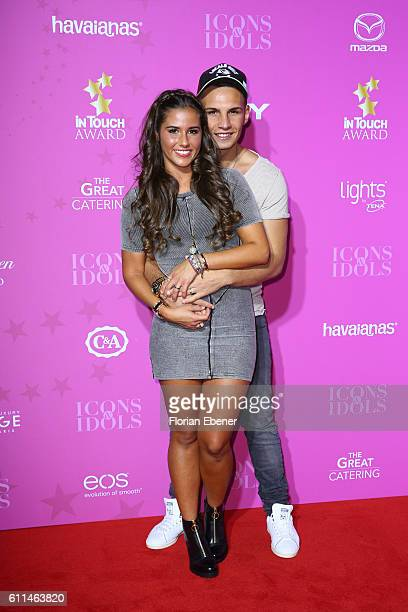 Sarah Lombardi and Pietro Lombardi attend the InTouch Awards 'Icons Idols' at Nachtresidenz on September 29 2016 in Duesseldorf Germany