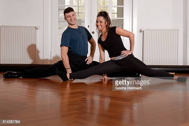 Sarah Lombardi and Robert Beitsch pose at a photo call for the television competition 'Let's Dance' on March 8 2016 in Huerth Germany On March 11th...