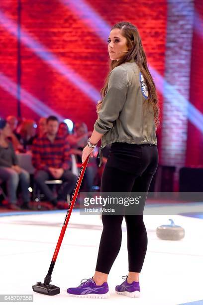 Sarah Lombardi attends the TV Show 'Der Grosse RTL2 Promi Curling Abend' on February 26 2017 in Moenchengladbach Germany