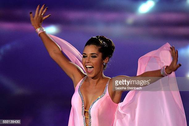 Sarah Lombardi performs on stage during the 10th show of the television competition 'Let's Dance' at Coloneum on May 20 2016 in Cologne Germany