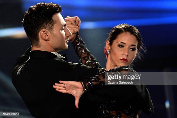 Sarah Lombardi Robert Beitsch perform on stage during the 11th show of the television competition 'Let's Dance' at Coloneum on May 27 2016 in Cologne...
