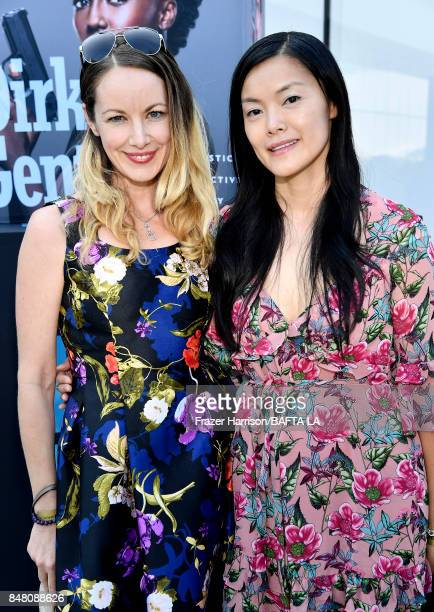 Sarah Lynn Dawson and Jennie Kong attend the BBC America BAFTA Los Angeles TV Tea Party 2017 at The Beverly Hilton Hotel on September 16 2017 in...