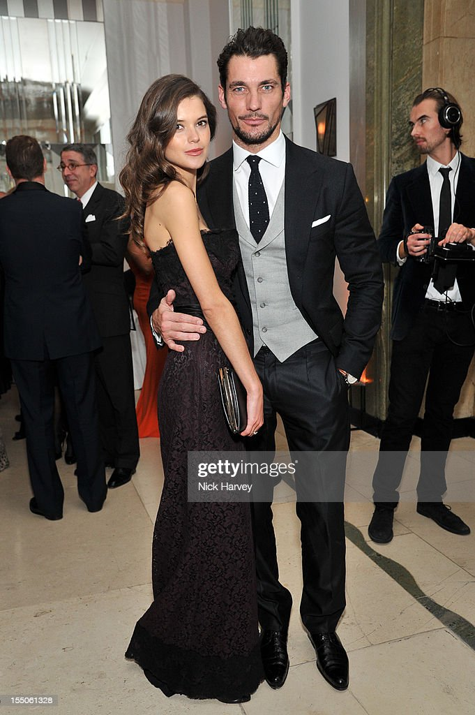 Sarah Macklin and David Gandi attend the Harper's Bazaar Woman of the Year Awards at Claridge's Hotel on October 31, 2012 in London, England.