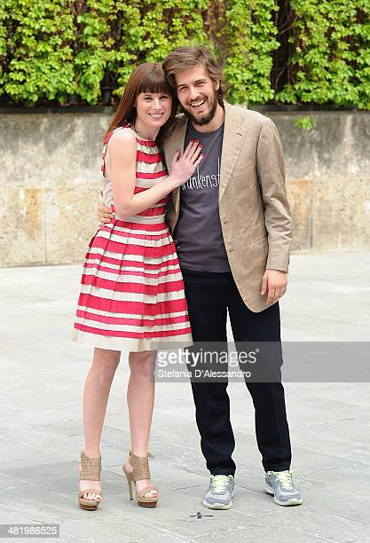 Sarah Maestri and Mattia Zaccaro Garau attend 'Il Pretore' Photocall at Apollo Spazio Cinema on April 2 2014 in Milan Italy