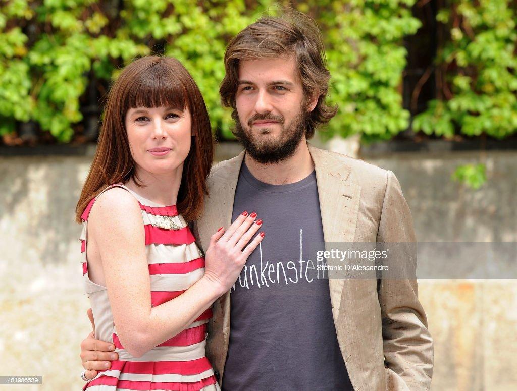 Sarah Maestri and Mattia Zaccaro Garau attend 'Il Pretore' Photocall at Apollo Spazio Cinema on April 2, 2014 in Milan, Italy.