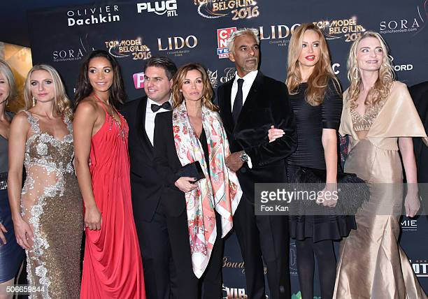 Sarah Marshall Adriana Karembeu and Satya Oblette Ingrid Chauvin Jeremy Urbain from Top Model Belgium Cindy Fabre and Laura Messia attend the 'Top...