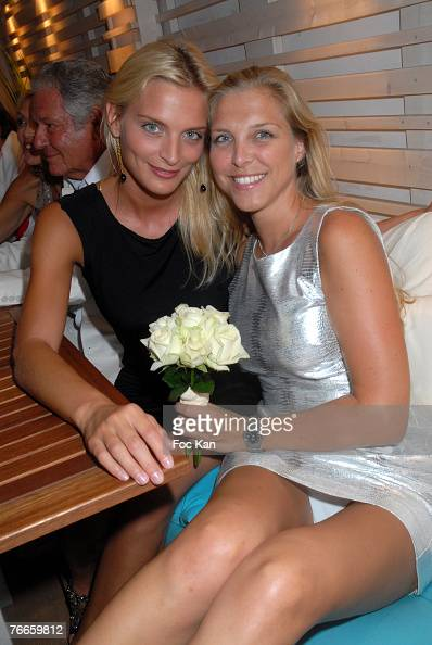 Sarah Marshall and Deborah Marshall attend The Crystal Beach Opening Party at the Crystal Beach Restaurant on August 15 2007 in St Tropez France