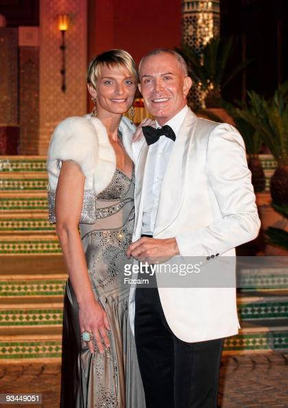 Sarah Marshall and Jean Claude Jitrois attend the Gala evening to celebrate the reopening of Hotel La Mamounia on November 26 2009 in Marrakech...