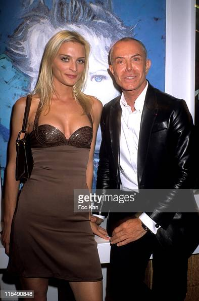 Sarah Marshall and Jean Claude Jitrois attend the Jean Daniel Lorieux's Paintings Exhibition Cocktail at the Salons Jacques Dessanges on June 18 2007...