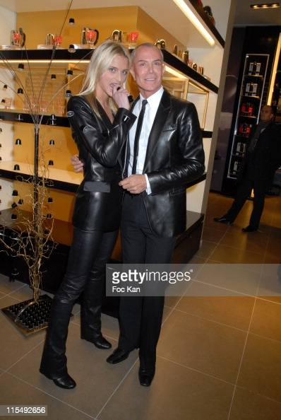 Sarah Marshall and Jean Claude Jitrois attend the Nestle Nespresso Flagship Store Opening Party on December 12 2007 in Paris France
