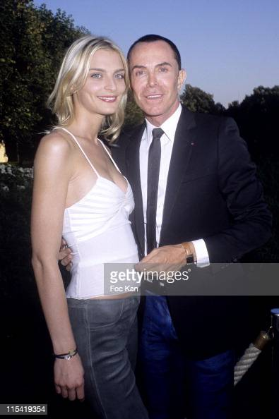 Sarah Marshall and Jean Claude Jitrois during Jaeger LeCoultre Reverso Watches Exhibition and Garden Party June 29 2006 at Musee Rodin in Cannes...