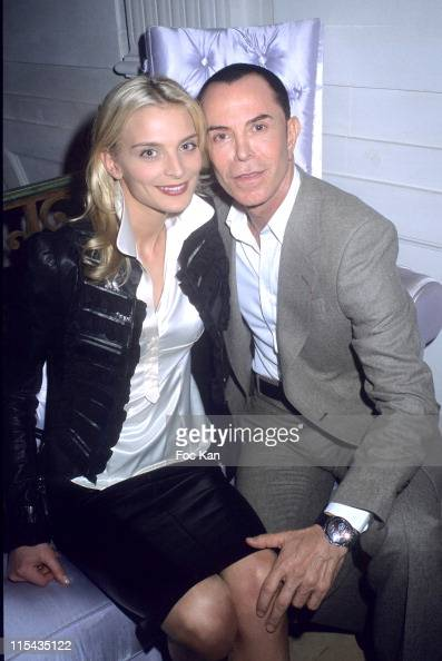 Sarah Marshall and Jean Claude Jitrois during ShangriLa Hotels A Paradise Foretaste Party April 27 2006 at Musee Baccarat in Paris France