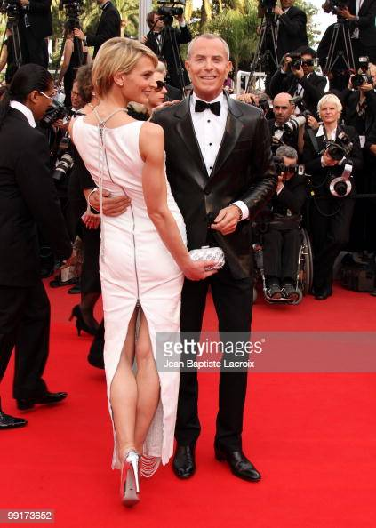 Sarah Marshall and JeanClaude Jitrois attend the Opening Night Premiere of 'Robin Hood' at the Palais des Festivals during the 63rd Annual...