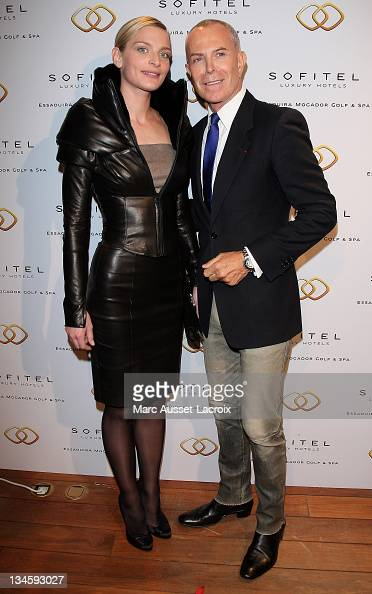 Sarah Marshall and JeanClaude Jitrois attend the 'Sofitel Mogador Essaouira' Launch Party 'at Pavillon Lenotre on January 24 2011 in Paris France