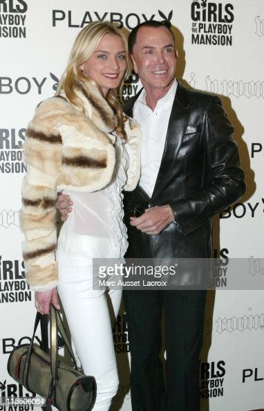 Sarah Marshall and JeanClaude Jitrois during Hugh Hefner Celebrates His 80th Birthday At The VIP Room In Paris May 29 2006 at VIP Room in Paris France